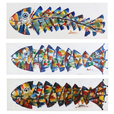 Koinobori Acrylic Paintings, 21st Century
