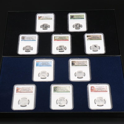NGC Graded 2014 and 2015 Silver America the Beautiful Quarters