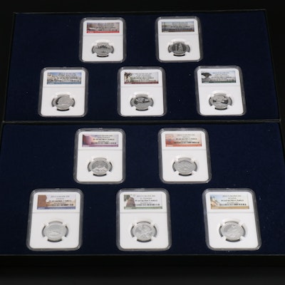 NGC Graded 2012 and 2013 Silver America the Beautiful Quarters