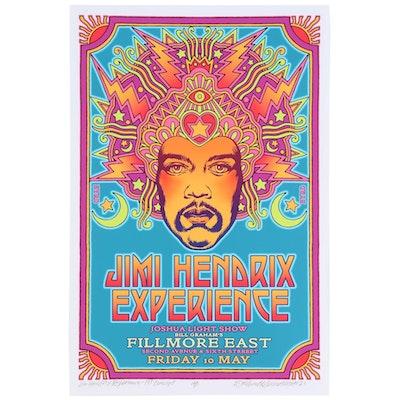 "David Edward Byrd Giclée ""Jimi Hendrix Experience - 1st Concept,"" 2021"