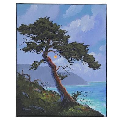 """Douglas """"Bumo"""" Johnpeer Acrylic Painting """"Overlook,"""" 2021"""
