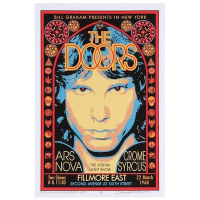 "David Edward Byrd Giclée ""The Doors Debut - Fillmore East, 1968,"" 2021"
