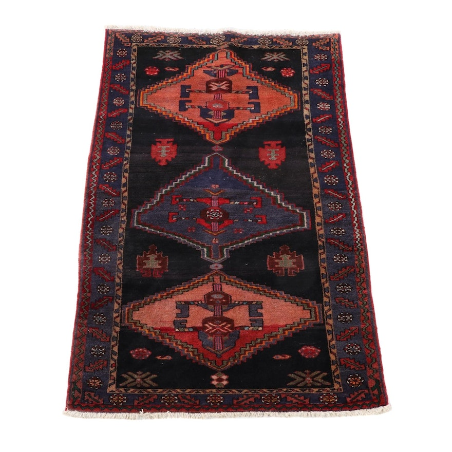 4'2 x 7'0 Hand-Knotted Persian Yalameh Wool Area Rug