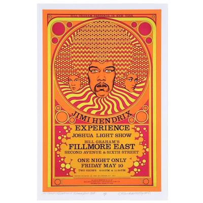 "David Edward Byrd Giclée ""Jimi Hendrix Experience - Fillmore East, 1968,"" 2021"