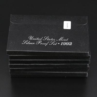 Seven U.S. Mint Silver Proof Sets