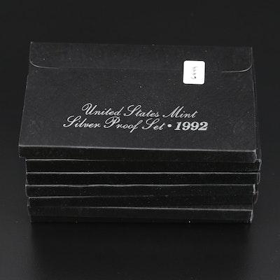 Seven U.S. Mint Silver Proof Sets