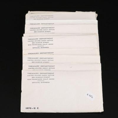 Ten U.S. Mint 1970 Uncirculated Sets