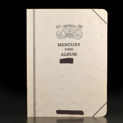 Vintage Dansco Album of Mercury and Roosevelt Silver Dimes