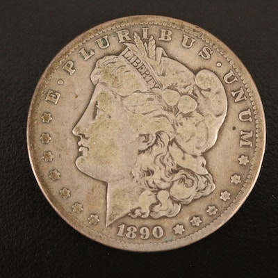 Better Date 1890-CC Morgan Silver Dollar