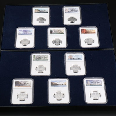 NGC Graded 2010 and 2011 Silver America the Beautiful Quarters