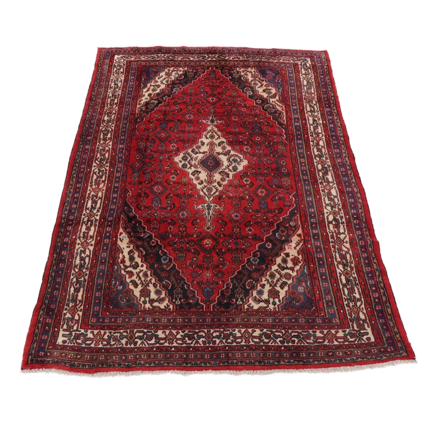 6'11 x 9'11 Hand-Knotted Persian Tabriz Area Rug
