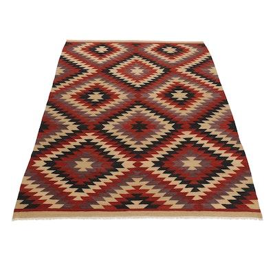 8'7 x 11'7 Handwoven Afghan Kilim Room Sized Rug
