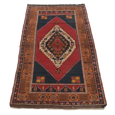 4'9 x 8' Hand-Knotted Turkish Village Area Rug