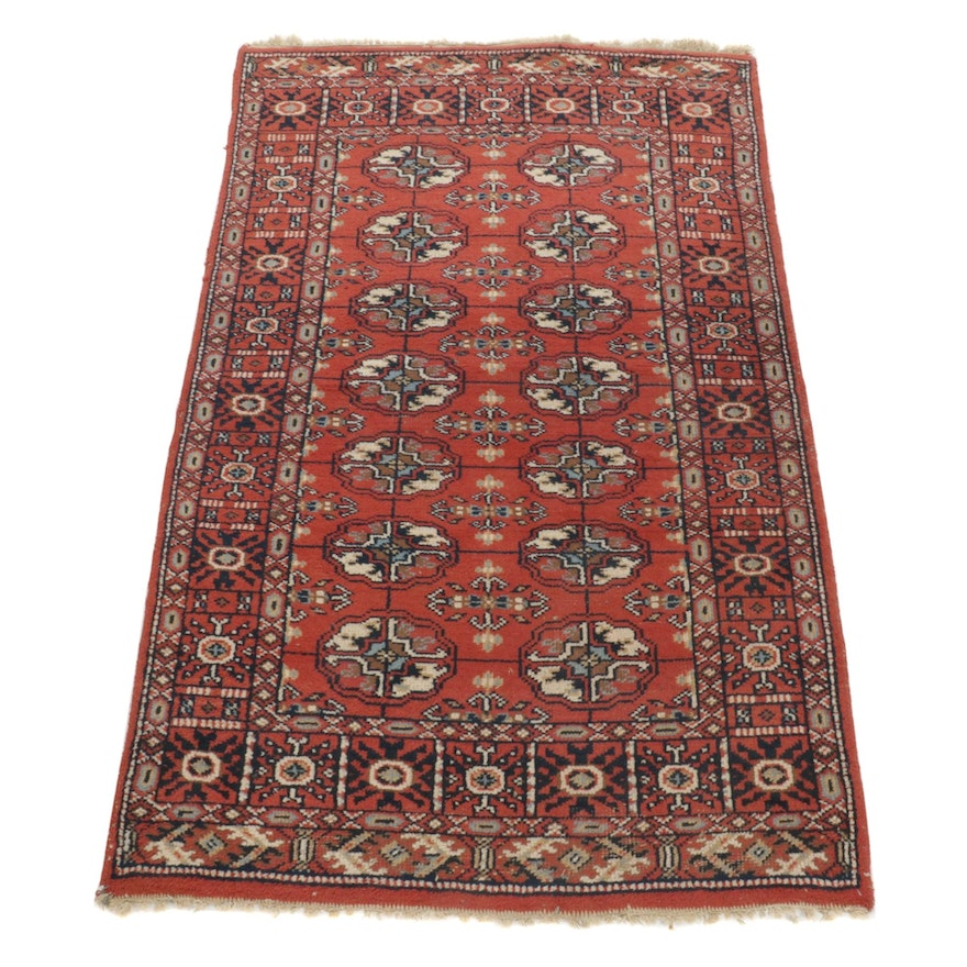 3'5 x 5'5 Hand-Knotted Central Asian Turkmen Bokhara Area Rug