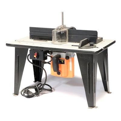 Chicago Electric Benchtop Router Table With 1-3/4 HP Router