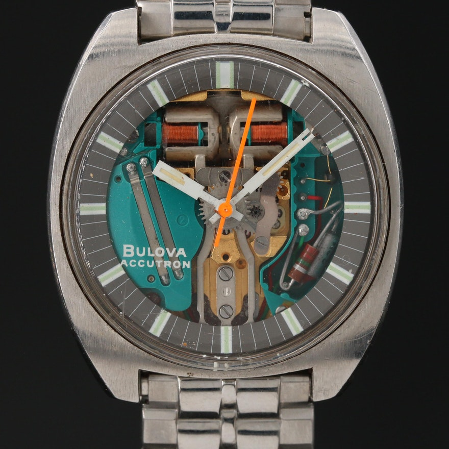 "Bulova Accutron ""Spaceview T"" Stainless Steel Wristwatch"