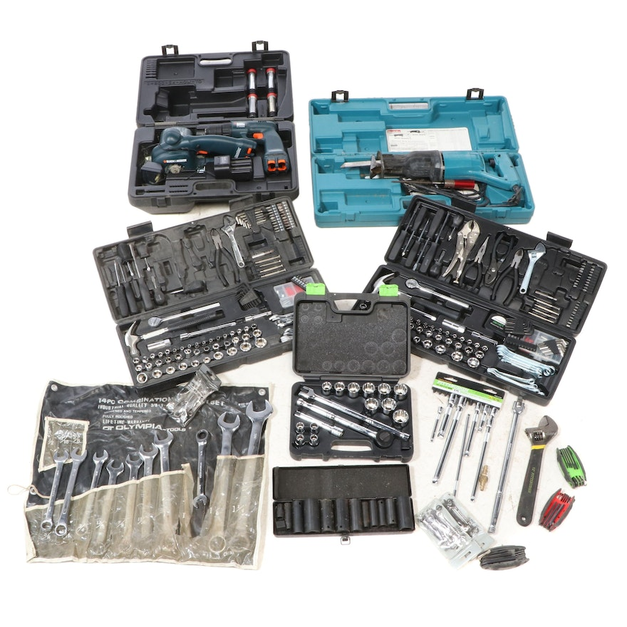 Makita Reciprocating Saw with Drill, Grinder, and Other Tools