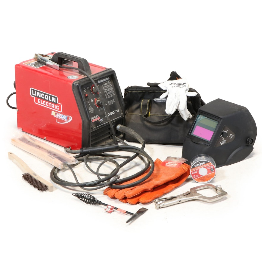 Lincoln Electric Pro-MIG 135 110V Wire Feed Welder with Accessories