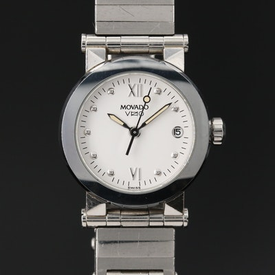 "Movado ""Vizio"" Stainless  Steel Quartz Wristwatch"