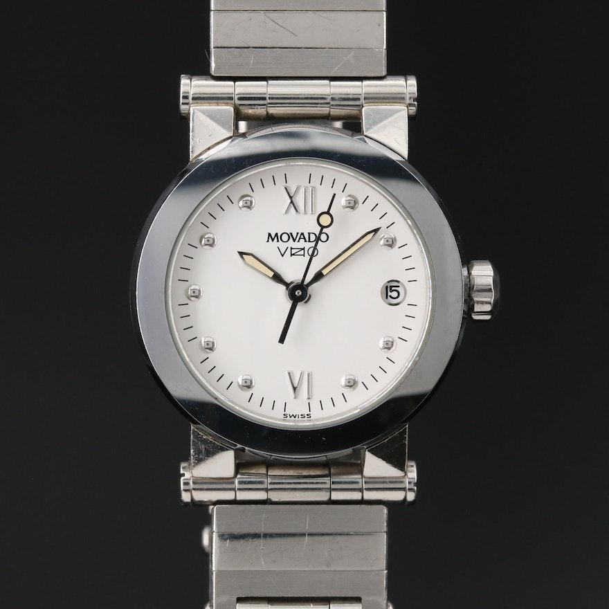 "Movado ""Vizio"" Stainless  Steel Quartz Wristwatch"