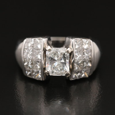 14K 2.52 CTW Diamond Rings with Invisible Set Shoulders