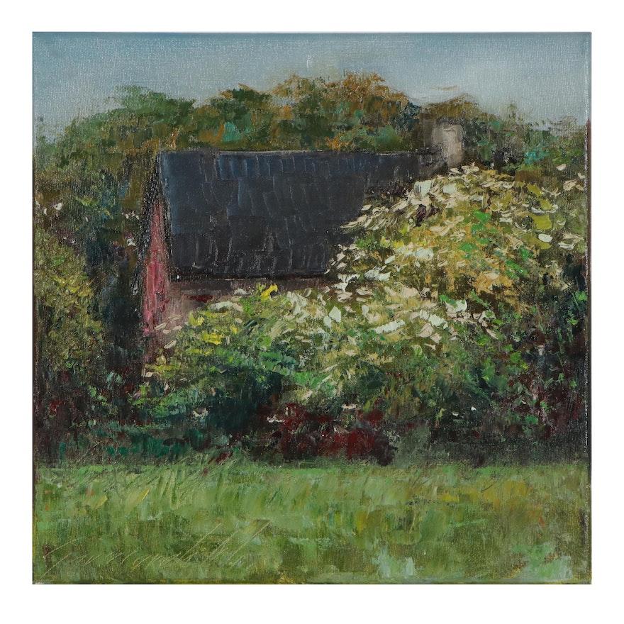 "Garncarek Aleksander Oil Painting ""Domek,"" 2021"