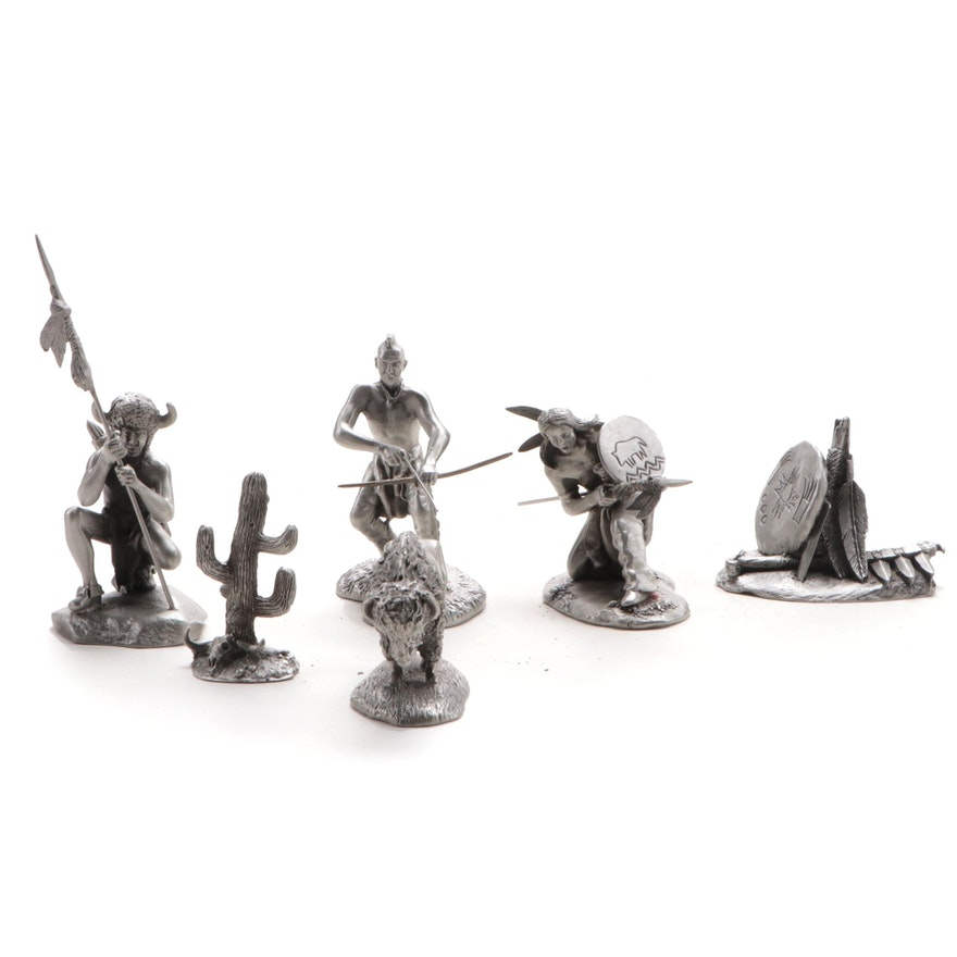 Hudson Pewter Historical Figurines, Late 20th Century