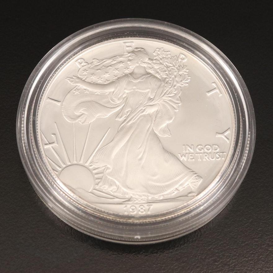 1987-S American Silver Eagle Proof Bullion Coin