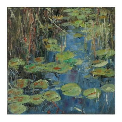 "Garncarek Aleksander Oil Painting ""Nenufauy,"" 2021"