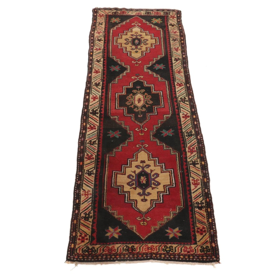4'1 x 11'8 Hand-Knotted Turkish Carpet Runner
