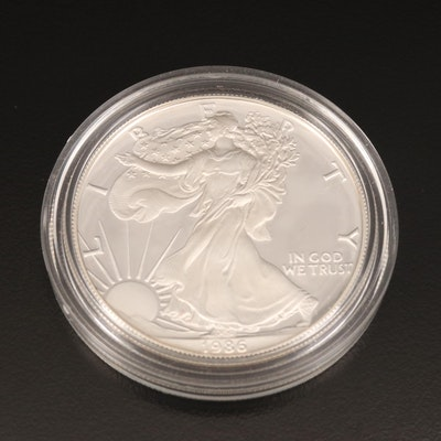 1986-S American Silver Eagle Proof Bullion Coin
