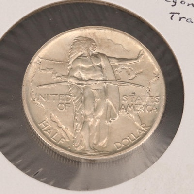 1926-S Oregon Trail Commemorative Silver Half Dollar
