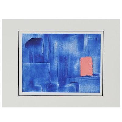 "Lars Wentzel Oil Painting ""Abstract June 19,"" 2020"