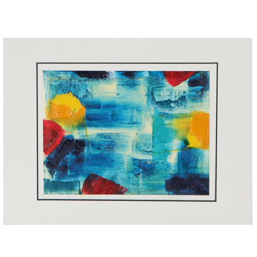 "Lars Wentzel Oil Painting ""Abstract 31,"" 2020"