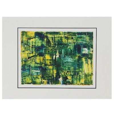 "Lars Wentzel Oil Painting ""Abstract June 18,"" 2020"