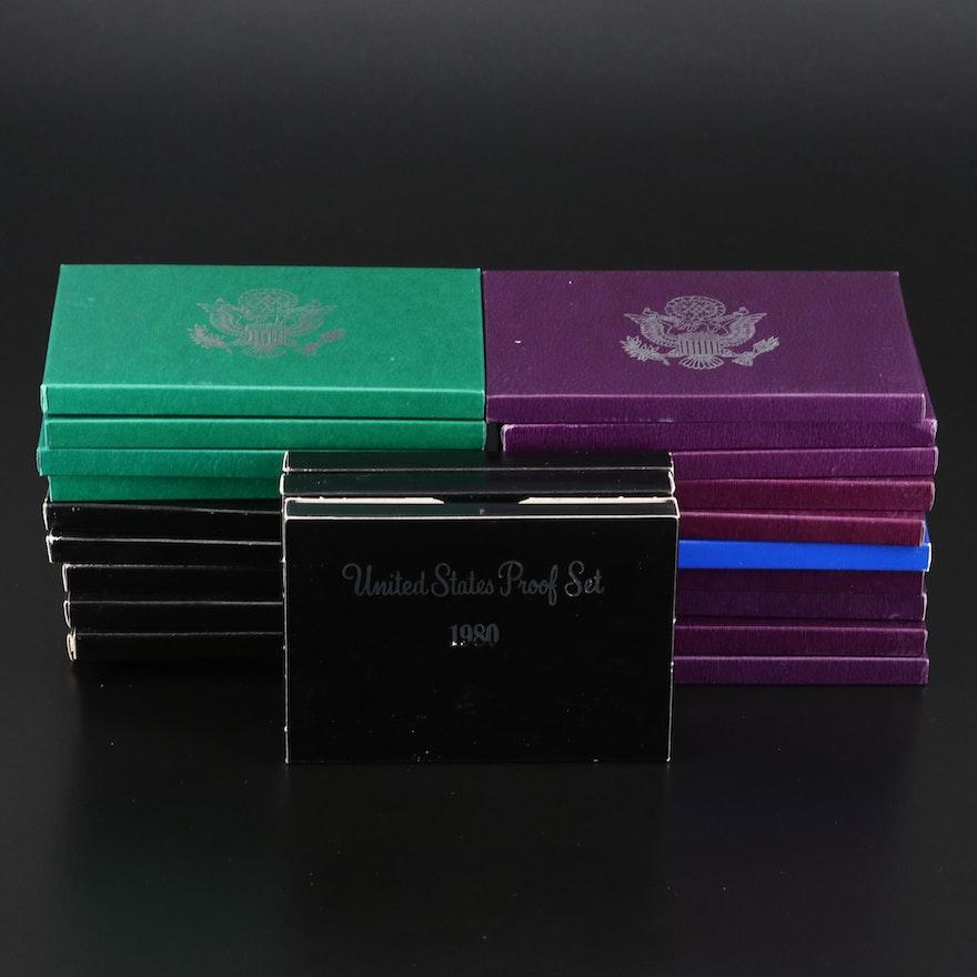 Twenty-Three U.S. Mint Proof Sets