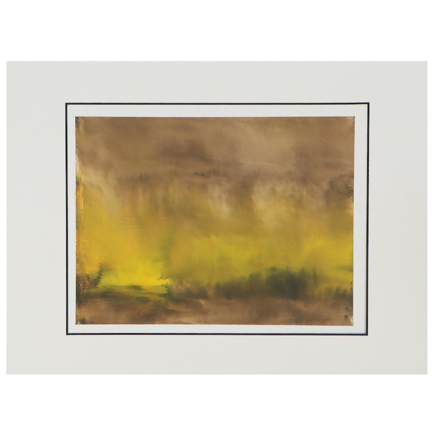 """Lars Wentzel Oil Painting """"Absract - July 2,"""" 2020"""