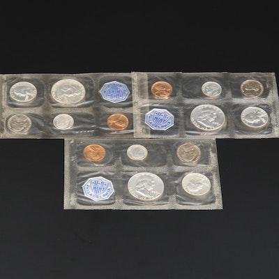 Three U.S. Mint Silver Proof Sets, 1950s