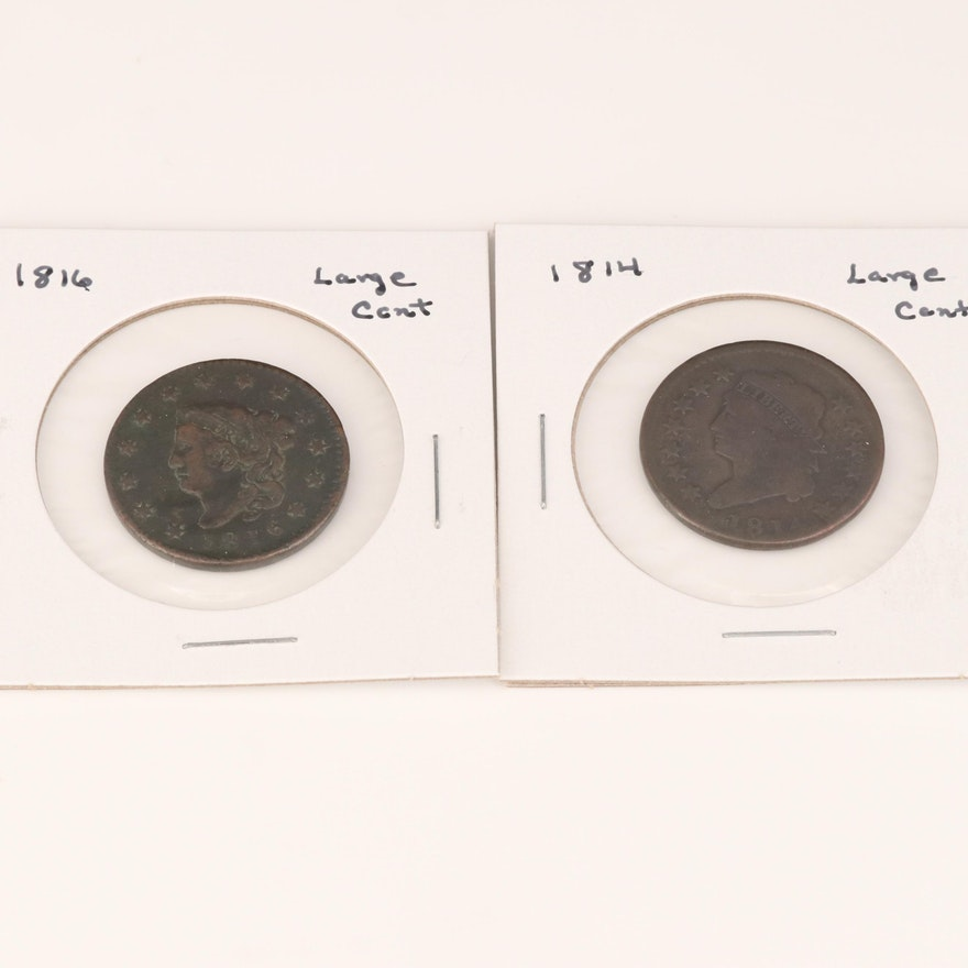 1814 and 1816 Large Cents