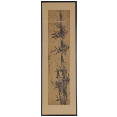 Japanese Ink Brush Painting of Bamboo, Late 19th to Early 20th Century