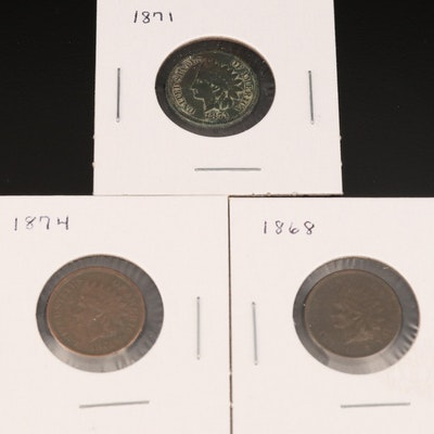 Three Key Date Indian Head Cents