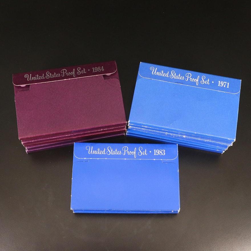 Sixteen U.S. Mint Proof Sets