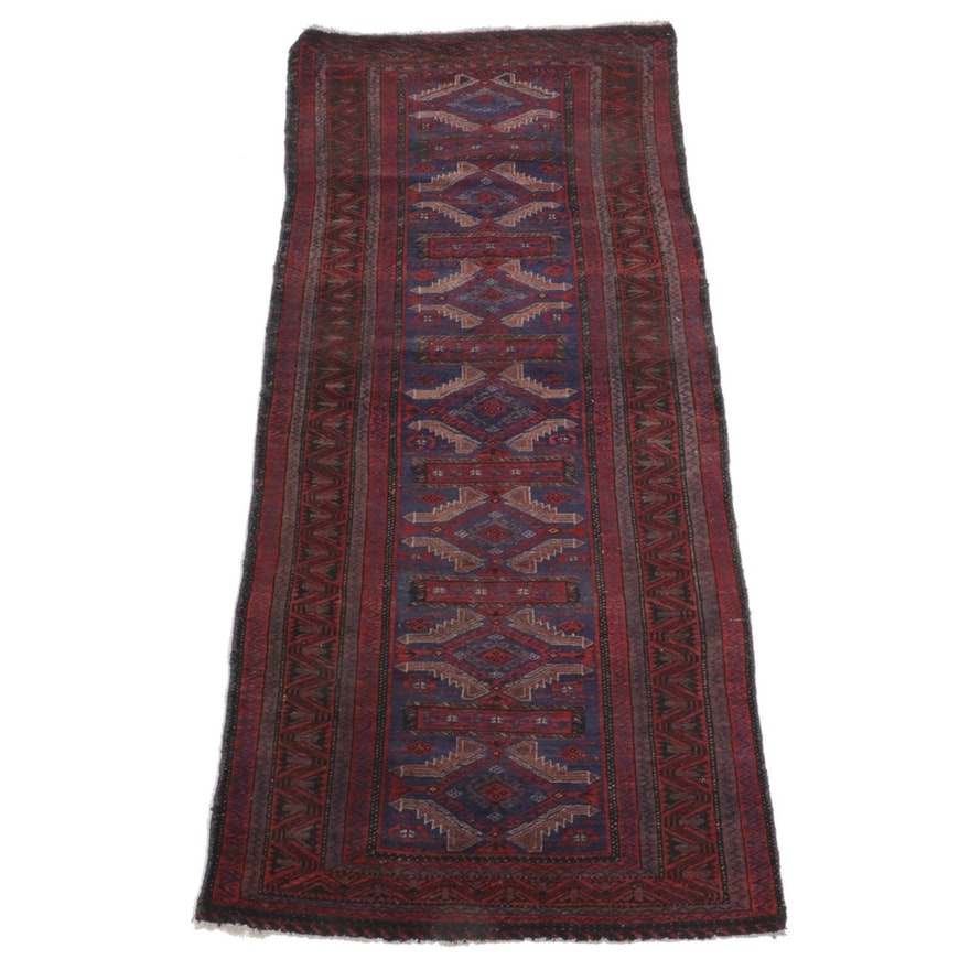 2'11 x 6'8 Hand-Knotted Afghan Baluch Area Rug