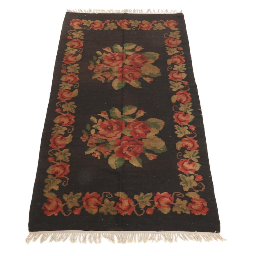 4'9 x 9'8 Handwoven Turkish Kilim Area Rug