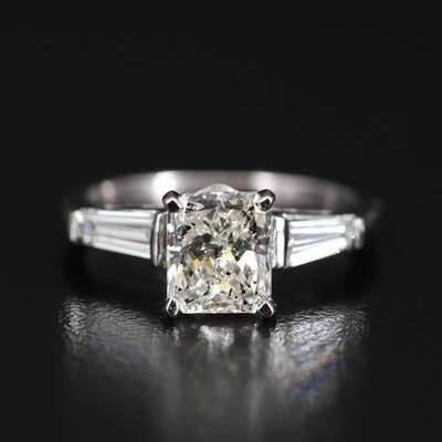 Platinum 2.11 CTW Diamond Three Stone Ring