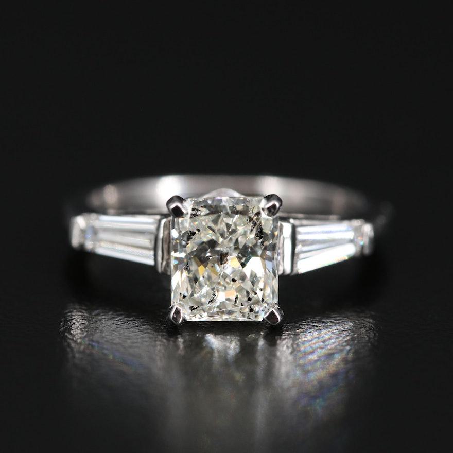 Platinum 2.11 CTW Diamond Three Stone Ring