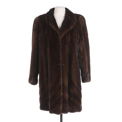 Mink Fur Directional Pelt Swing Coat