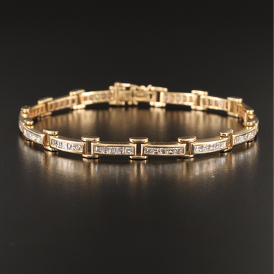Mayors 18K 5.25 CTW Diamond Bar Link Bracelet