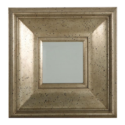 Accent Mirror with Speckle Painted Wide Frame