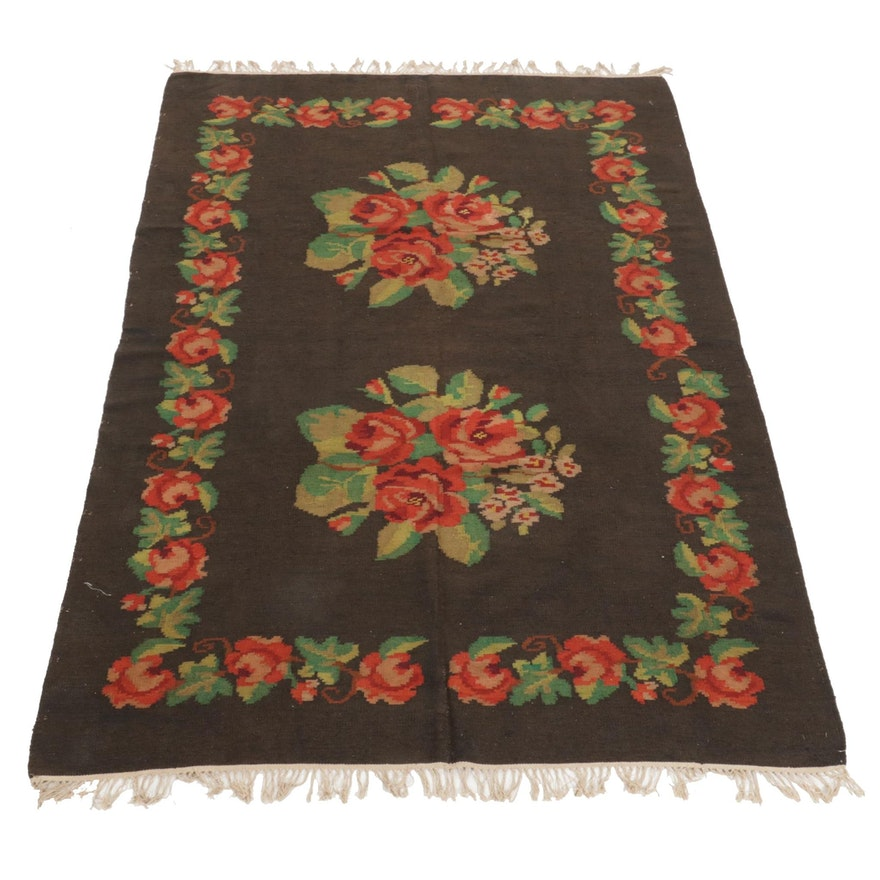5'11 x 10'0 Handwoven Turkish Bessarabian Kilim Area Rug